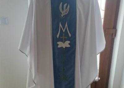 Ornát Mariánsky vyšívaný